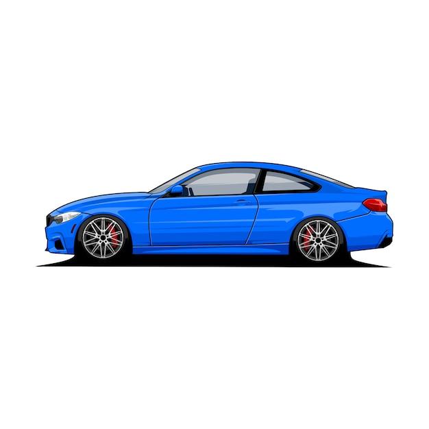Vista laterale vettoriale auto Vettore Premium