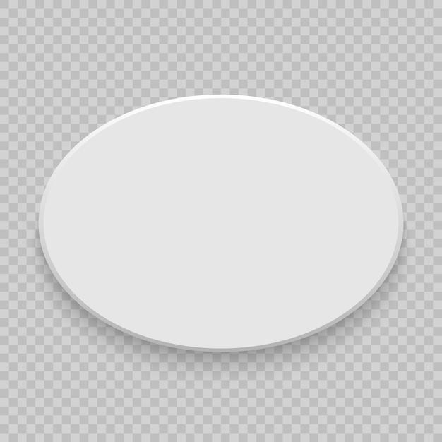 Vista superiore della scatola con ombra. mock up modello 3d. bianco bianco realistico Vettore Premium