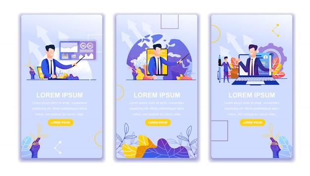 Visualizza il blog aziendale online. Vettore Premium