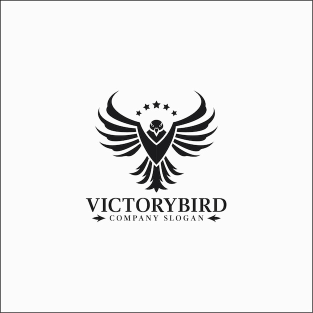 Vittoria uccello - modello logo eagle Vettore Premium