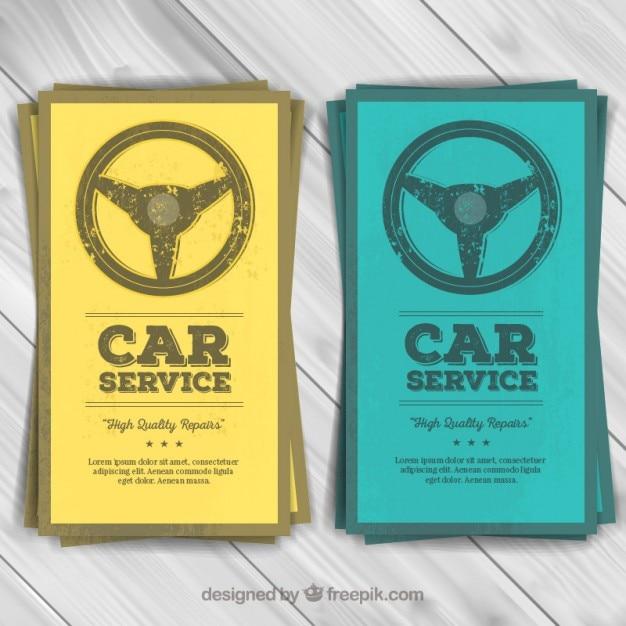 Volantini di servizio di auto Vettore Premium