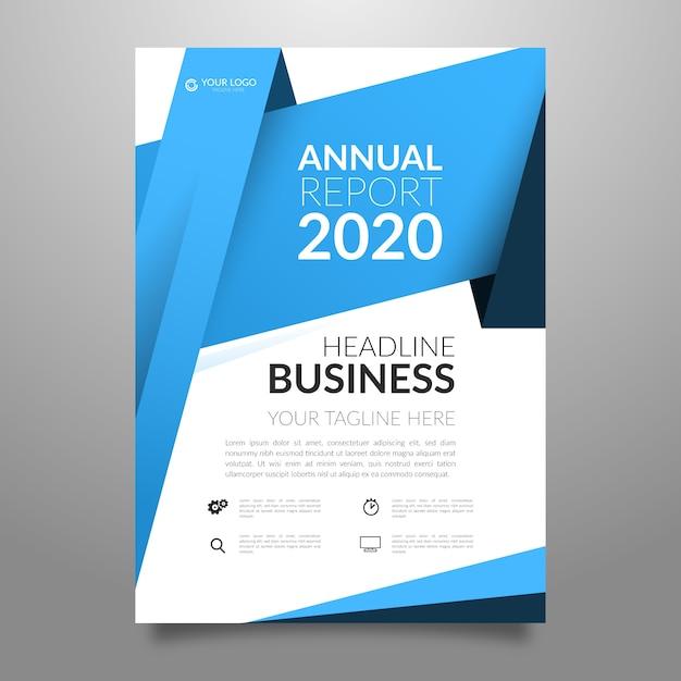Volantino aziendale del rapporto annuale Vettore gratuito