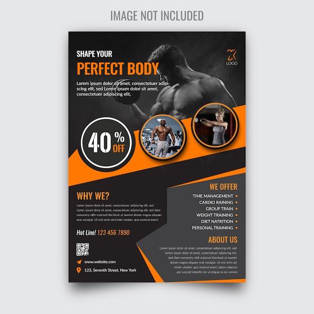 Volantino fitness moderno Vettore Premium