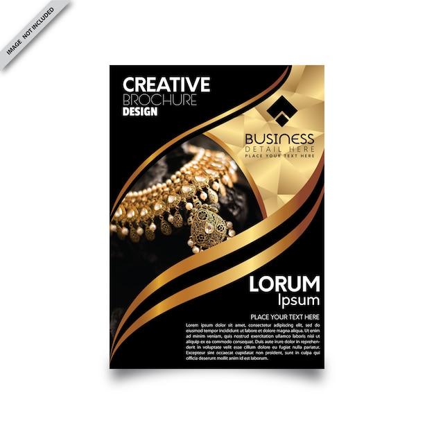 Volantino in oro nero Vettore Premium
