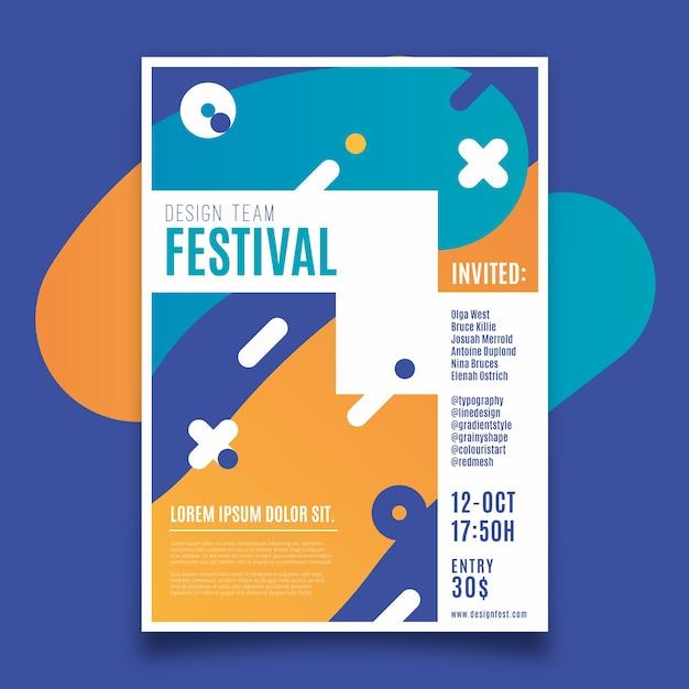 Volantino modello festival design Vettore gratuito