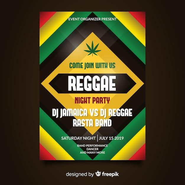 Volantino notturno del partito reggae Vettore gratuito