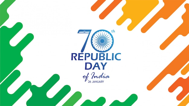 Volantino per la festa della repubblica dell'india Vettore Premium