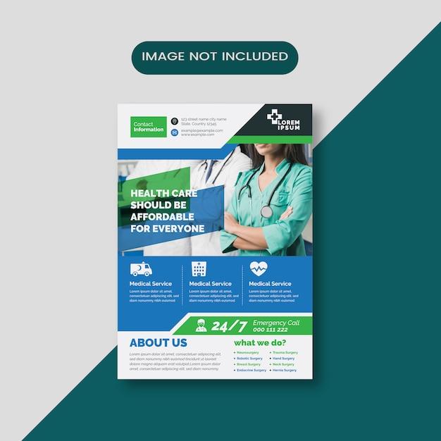Volantino per pubblicità medica Vettore Premium