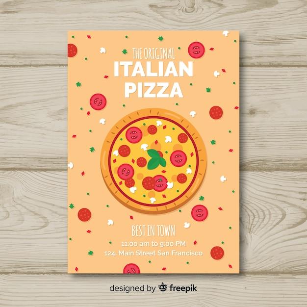 Volantino ristorante piatto italiano Vettore gratuito
