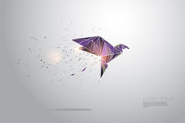 Volo degli uccelli Vettore Premium