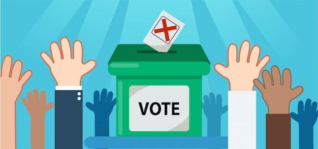 Vota per il set elect Vettore Premium