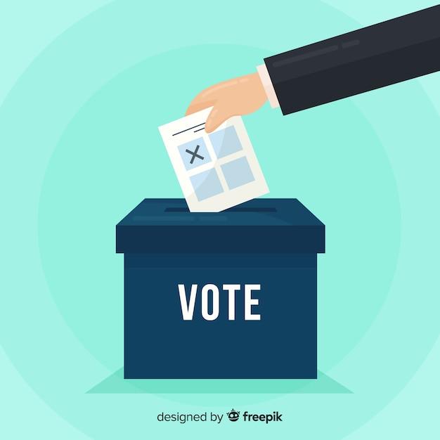 Voto e concetto di elezione con scatola Vettore gratuito