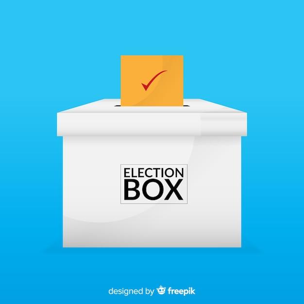 Voto e concetto di elezione Vettore gratuito