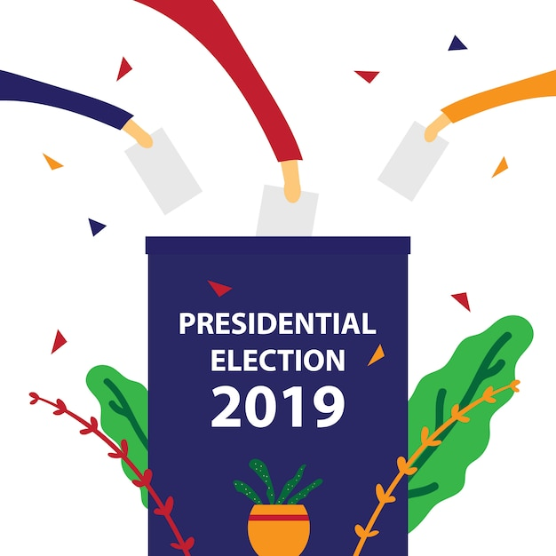 Voto elettorale Vettore Premium