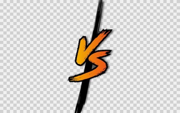 Vs. contro il logo della lettera. battaglia vs partita, gioco Vettore Premium