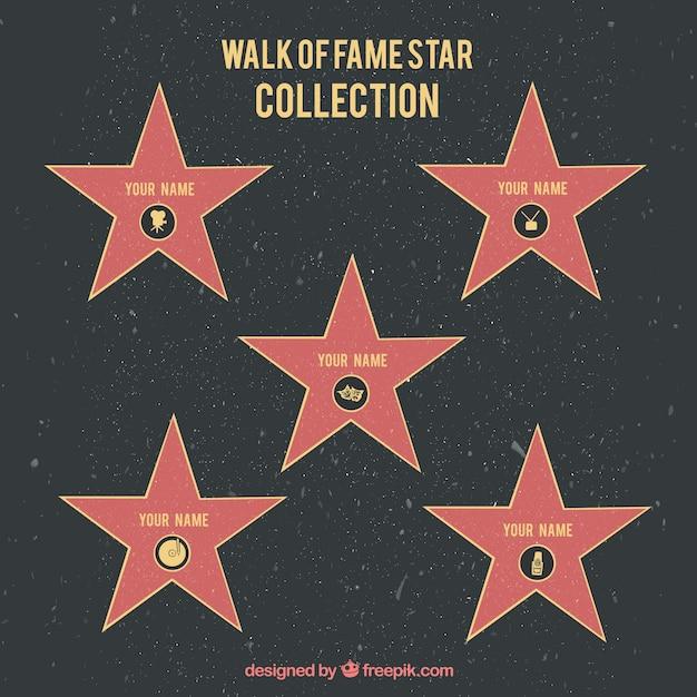 Walk of fame sfondo stella Vettore gratuito