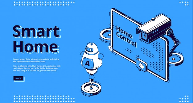 Web design isometrico di internet of things, iot. Vettore gratuito