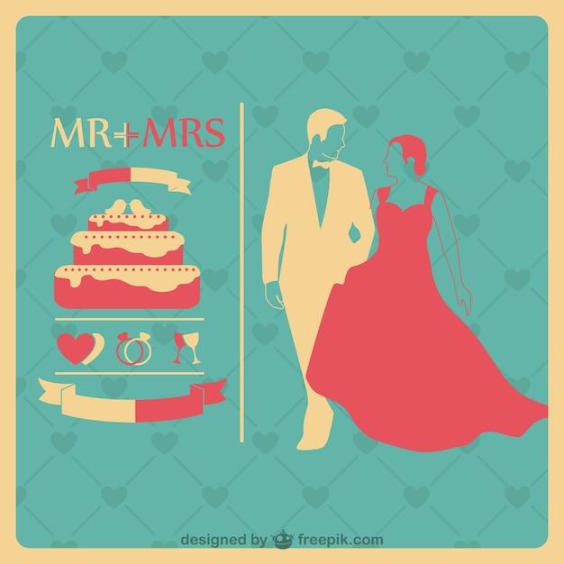 Wedding invitation template Vettore gratuito