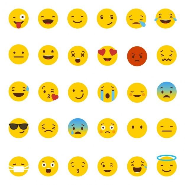 whatsapp Emoji Vettore gratuito