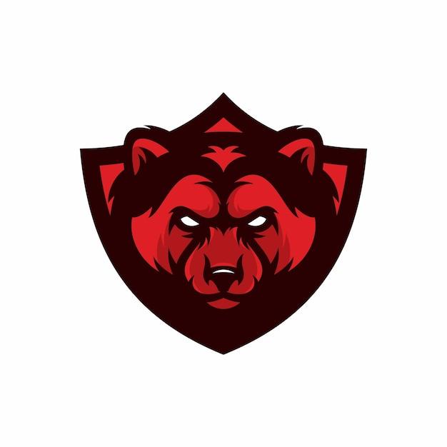 Wolverine - logo vettoriale / icona illustrazione mascotte Vettore Premium