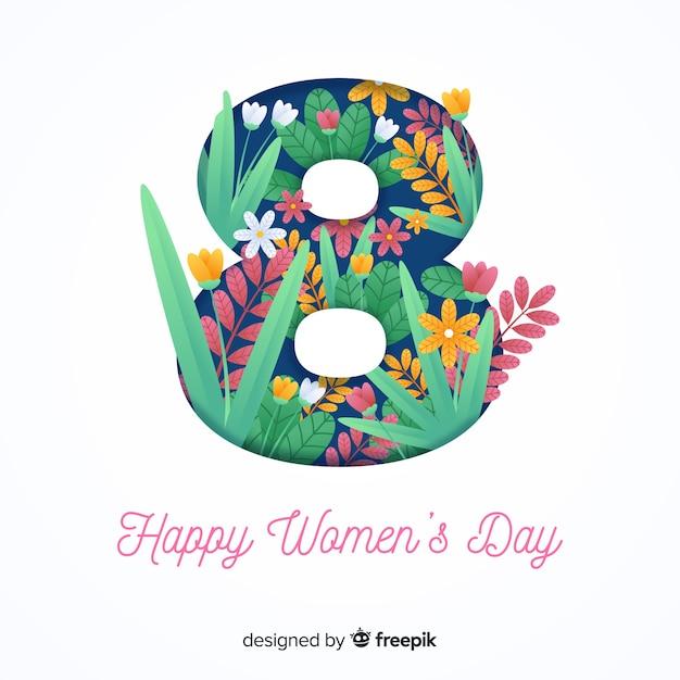 Womans day background Vettore gratuito