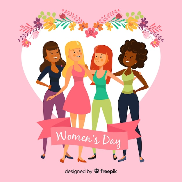 Womans day background Vettore gratuito