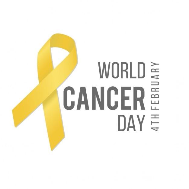 World cancer giorno nastro giallo Vettore gratuito