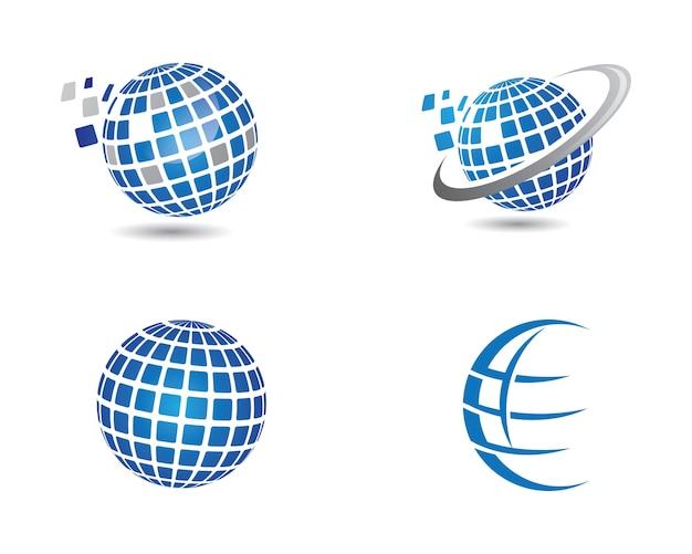 World logo template Vettore Premium