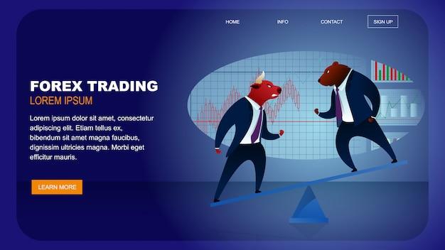 World stock market forex trading denaro globale Vettore Premium