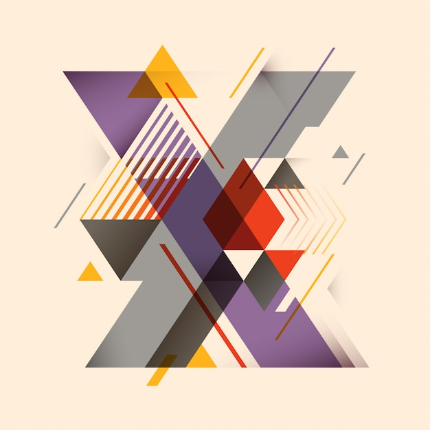 X lettera design Vettore Premium