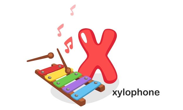 X per xilofono Vettore Premium
