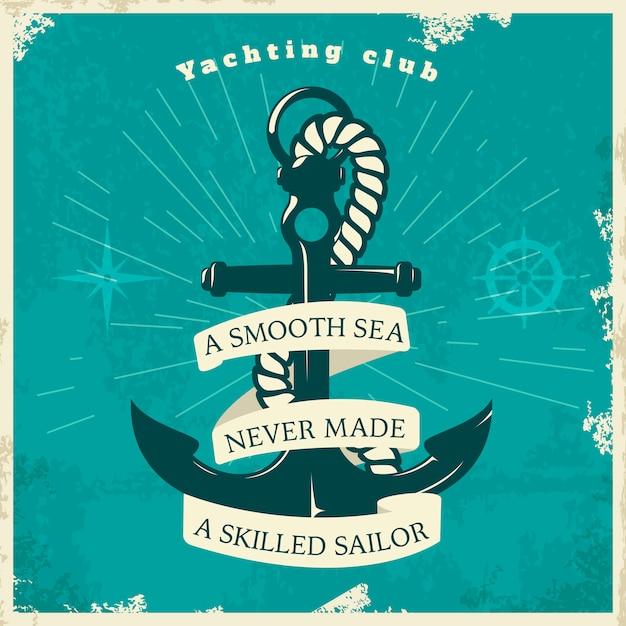 Yachting club stile vintage Vettore gratuito