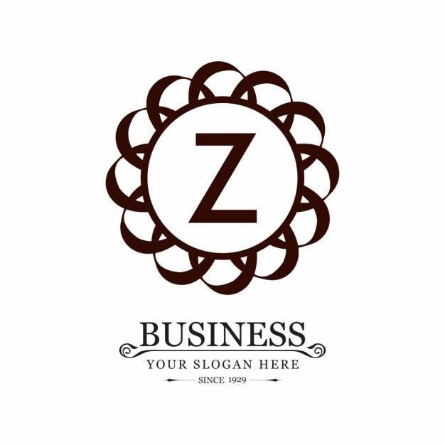 Z cerchio logo creativo Vettore gratuito
