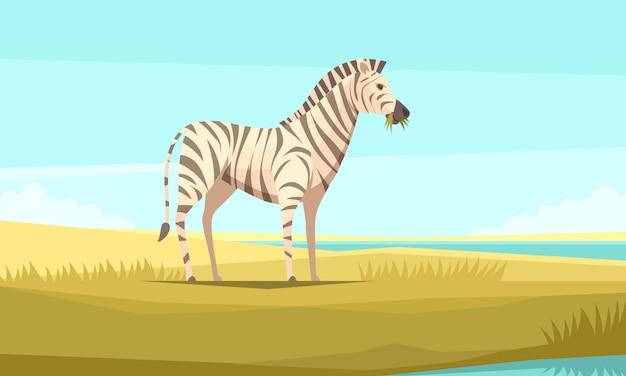 Zebra natura sfondo Vettore gratuito