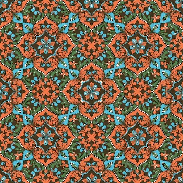 Zentangle seamless pattern Vettore gratuito