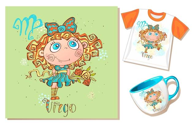 Zodiaco dei bambini. Vettore Premium