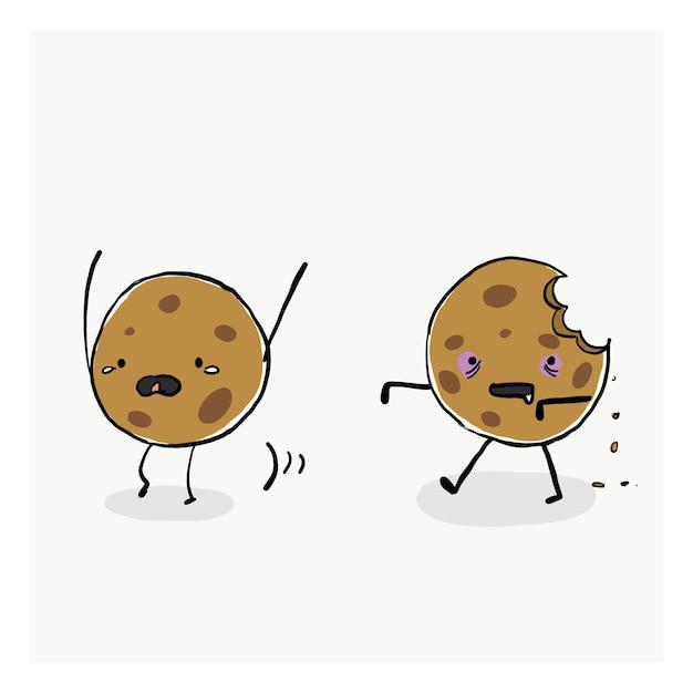 Zombie cookie Vettore Premium