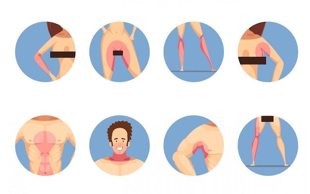 Zone depilatorie depilatorie per uomo e donna Vettore gratuito