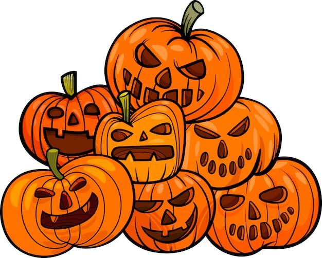 Zucche Di Halloween Cartoni Animati.Zucche Di Halloween Del Cartone Animato Scaricare Vettori Premium