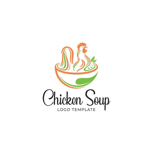 Zuppa di pollo Vettore Premium