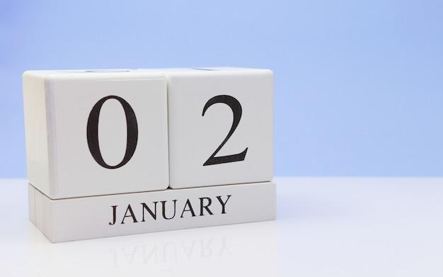 2 januari. dag 02 van de maand Premium Foto