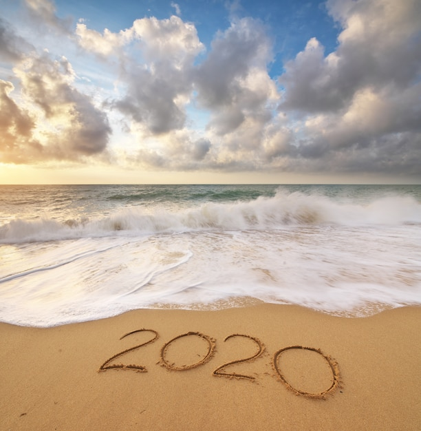 2020 jaar aan de kust Premium Foto