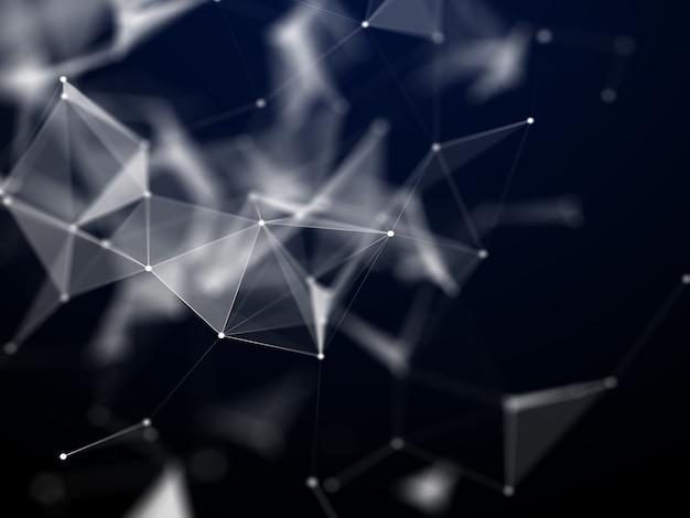 3d abstracte achtergrond met lage polylijnen Gratis Foto