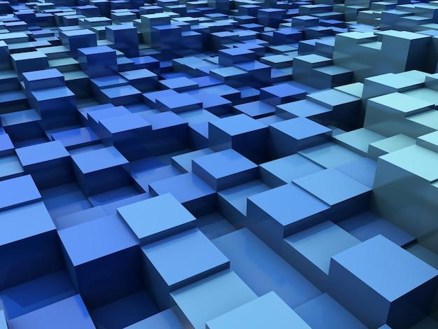 3d abstracte moderne achtergrond met het uitdrijven van blokken Gratis Foto