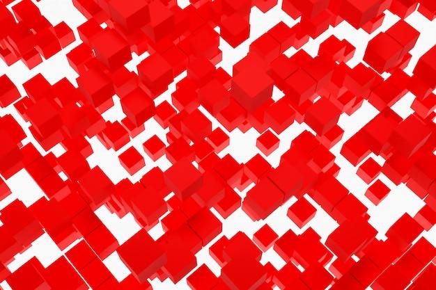 3d-afbeelding achtergrond, textuur van een groot aantal duiven geometrische vormen van verschillende maten en vormen. Premium Foto