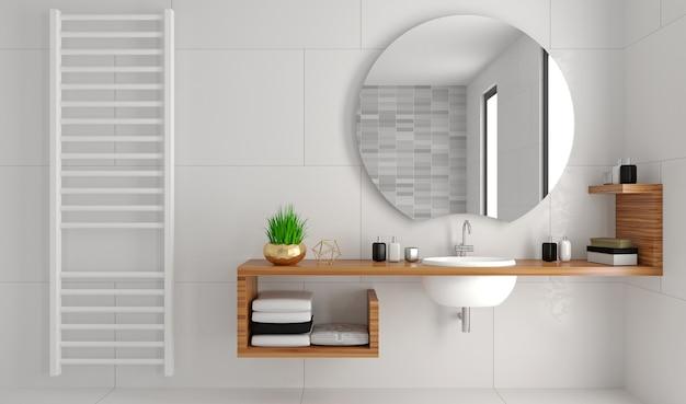 3d-afbeelding. moderne glazen doucheruimte in loftstijl. Premium Foto