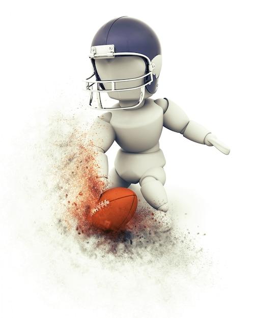 3d amerikaanse voetballer touchdown Gratis Foto
