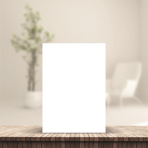 3d-blad in een tafelbord Gratis Foto