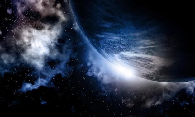 3d fictieve ruimteachtergrond Gratis Foto