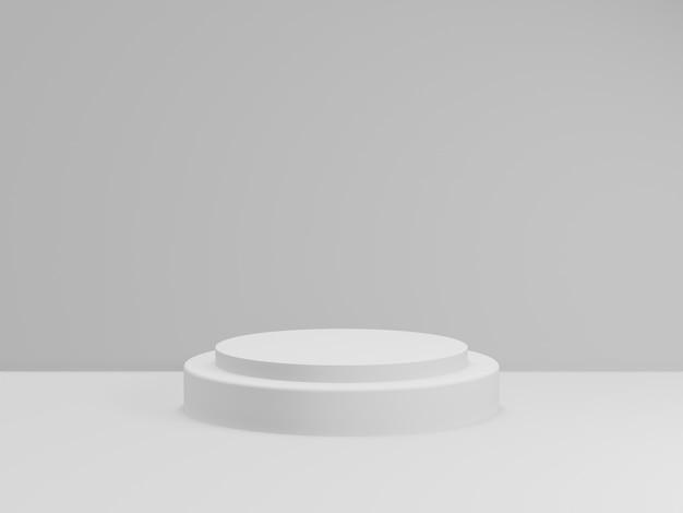 3d geef van totaal wit podium voor product terug. mockup fase. Premium Foto